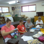 members busy sewing