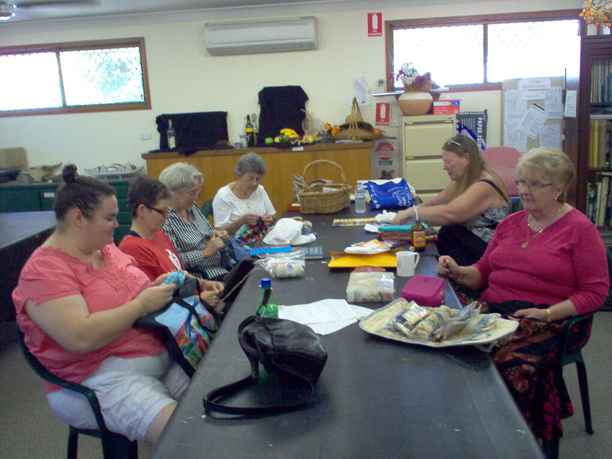 women sewing and stitching